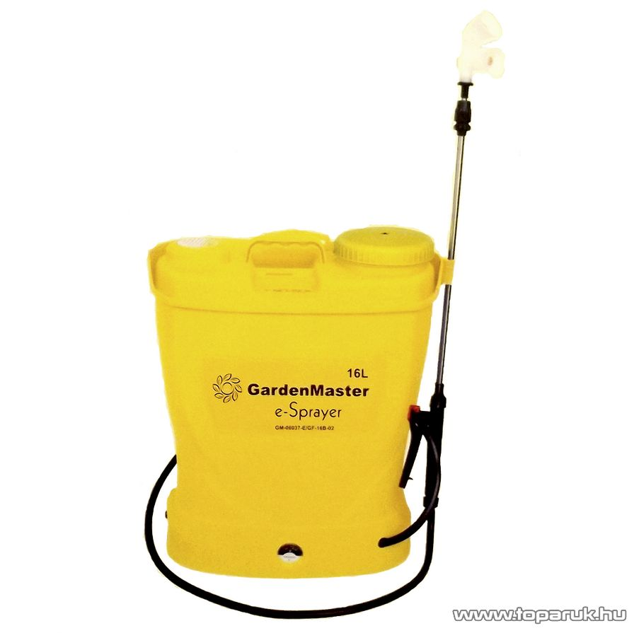 GardenMaster 16 literes elektromos, akkumulátoros háti permetező - készlethiány