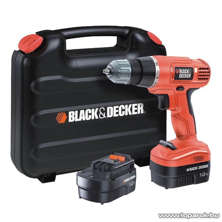 Black & Decker EPC12CABK Akkumulátoros fúró és csavarozó pótakkumulátorral kofferben