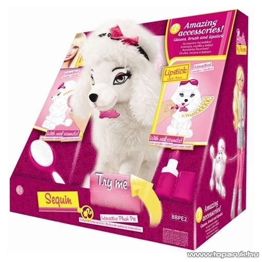Barbie Sequin interaktív plüss pudli, uszkár kutyus - készlethiány