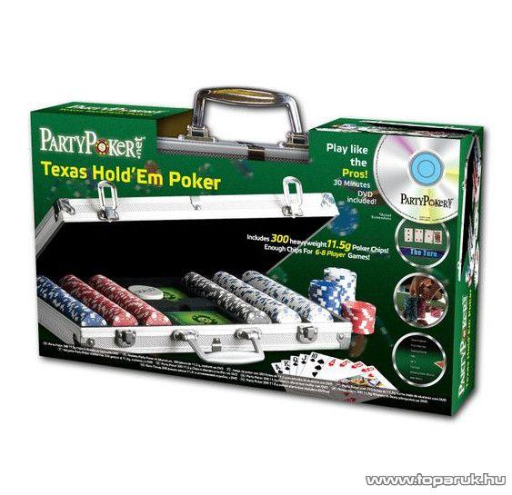 Profi Party Póker szett, 300 db-os - készlethiány