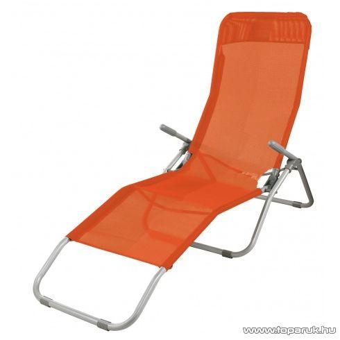 Westside Dönthető, UV-álló, fémvázas napozóágy textilén huzattal, narancssárga