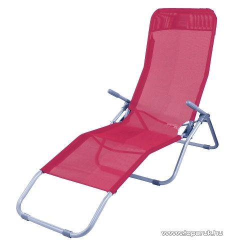 Westside Dönthető, UV-álló, fémvázas napozóágy textilén huzattal, meggy piros - készlethiány
