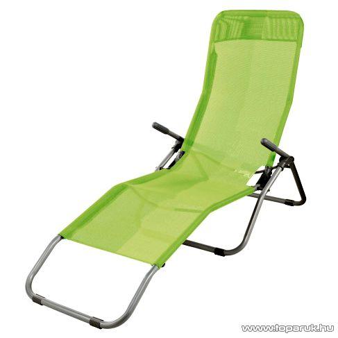 Westside Dönthető, UV-álló, fémvázas napozóágy textilén huzattal, zöld