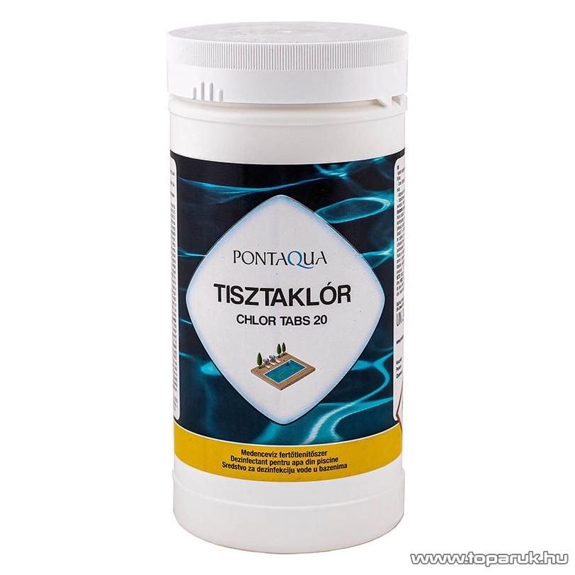 PoolTrend / PontAqua CHLOR TABS 20 (tisztaklór) medence fertőtlenítő tabletta, klóros, 1 kg (50 db tabletta)