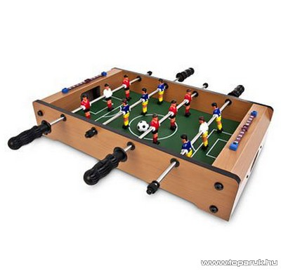 Mini fa csocsóasztal, asztali foci, 50 x 30 cm - készlethiány