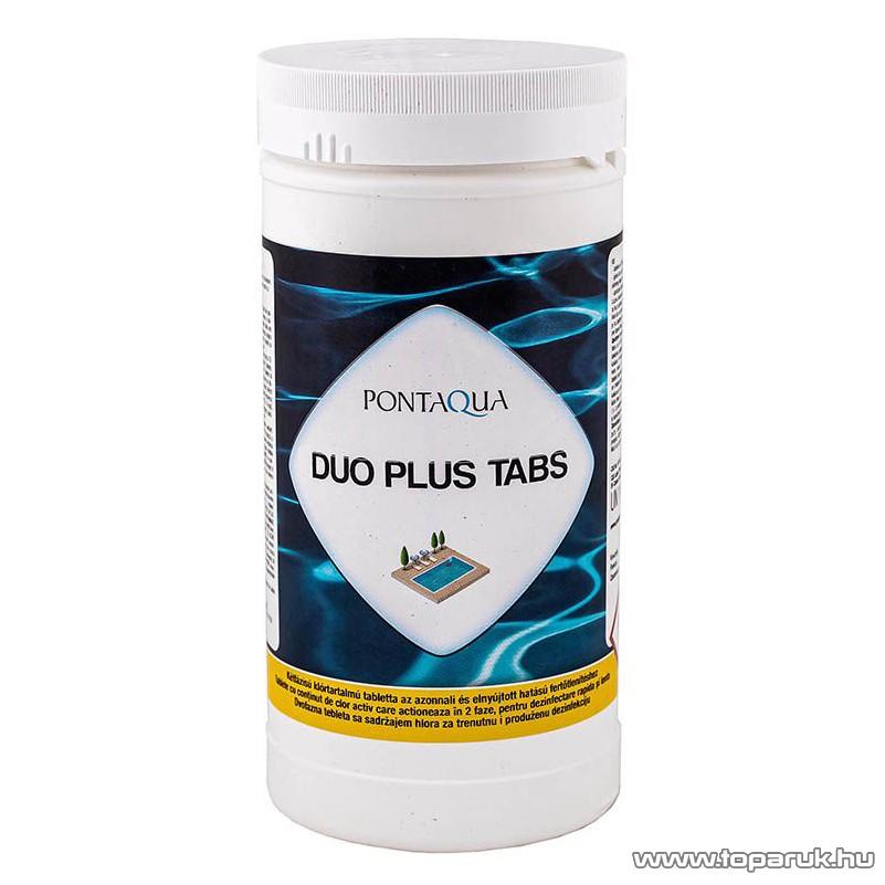PoolTrend / PontAqua DUO PLUS TABS kétfázisú, kettős hatású medence vízkezelő klór tabletta, 1 kg