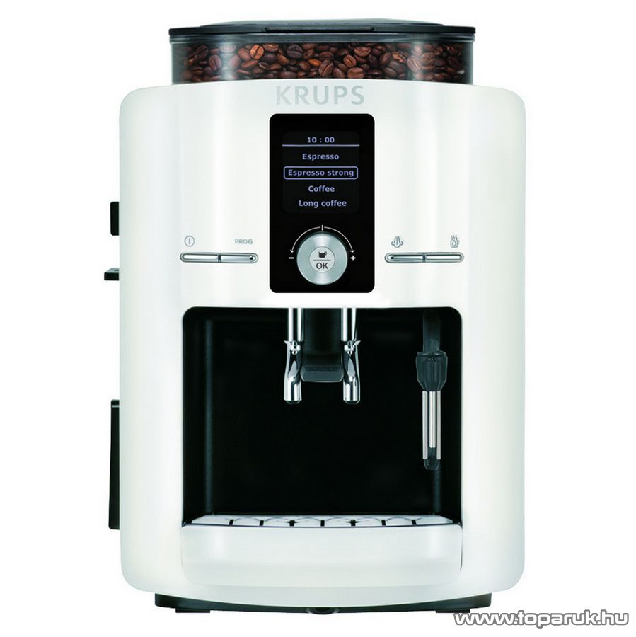 Krups EA8245PE Espresseria Automatic lakk fehér eszpresszó kávéfőző - készlethiány
