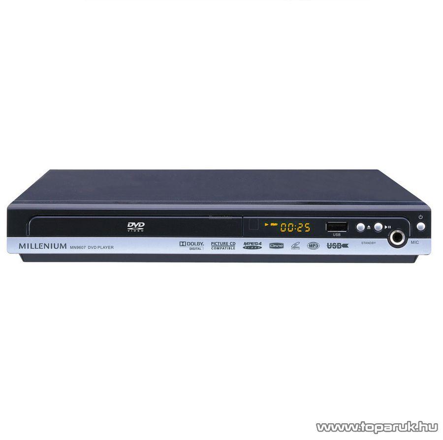 Millenium MN 9607 DivX-MP3 Karaoke asztali DVD lejátszó - készlethiány