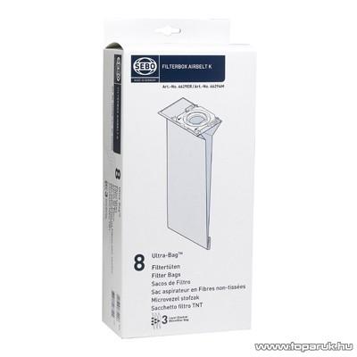 Sebo porzsák Airbelt K típusú porszívókhoz, 8 db / csomag