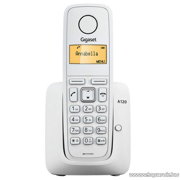Siemens Gigaset A120 DECT telefon, fehér - megszűnt termék: 2015. február