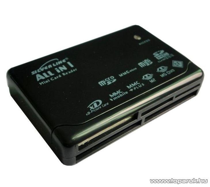 Silverline EL-650 multi kártyaolvasó minden kártyatípushoz, USB 2.0 csatlakozás - megszűnt termék: 2015. február