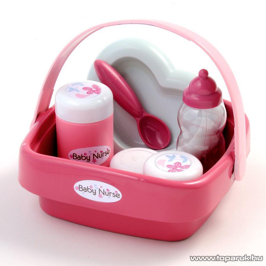 Smoby Baby Nurse Babás készlet kosárban (7600024072)