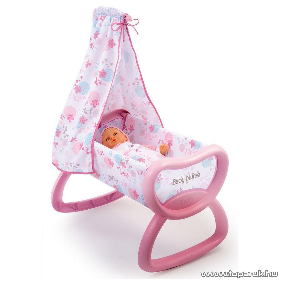 Smoby Baby Nurse Baldachinos baba bölcső (7600024015) - készlethiány