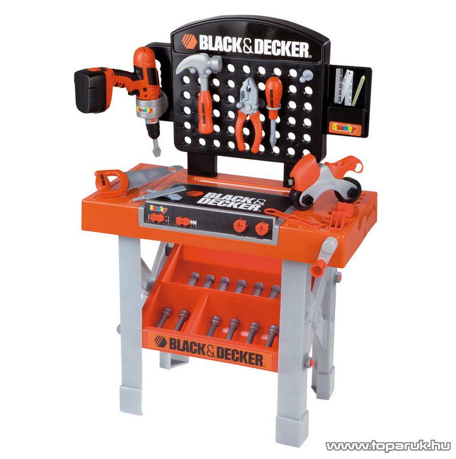 Smoby Black & Decker (B&D) Szuper szerelő asztal (7600500205) - Megszűnt termék: 2015. November