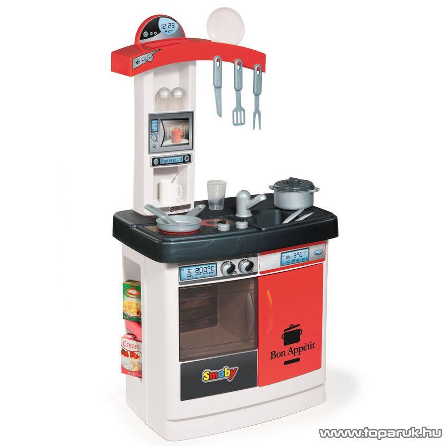 Smoby Bon Appetit játék konyha - piros (7600024219) - Megszűnt termék: 2014. Október