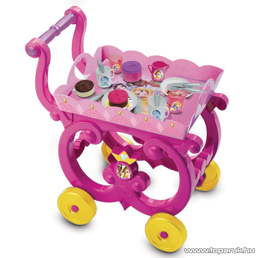 Smoby Disney Hercegnők Zsúrkocsi teáskészlettel és sütivel (7600024271)
