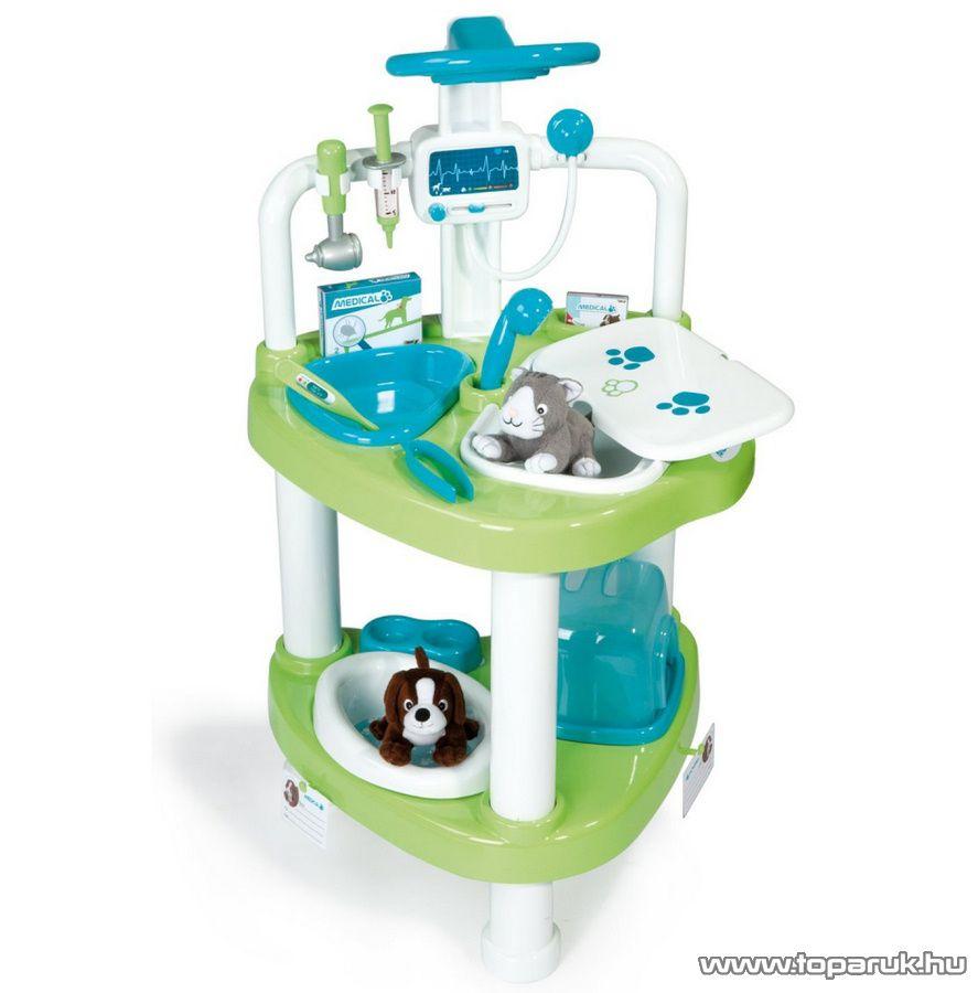 Smoby Kisállat klinika, állatorvosi műtőasztal (7600024650) - készlethiány