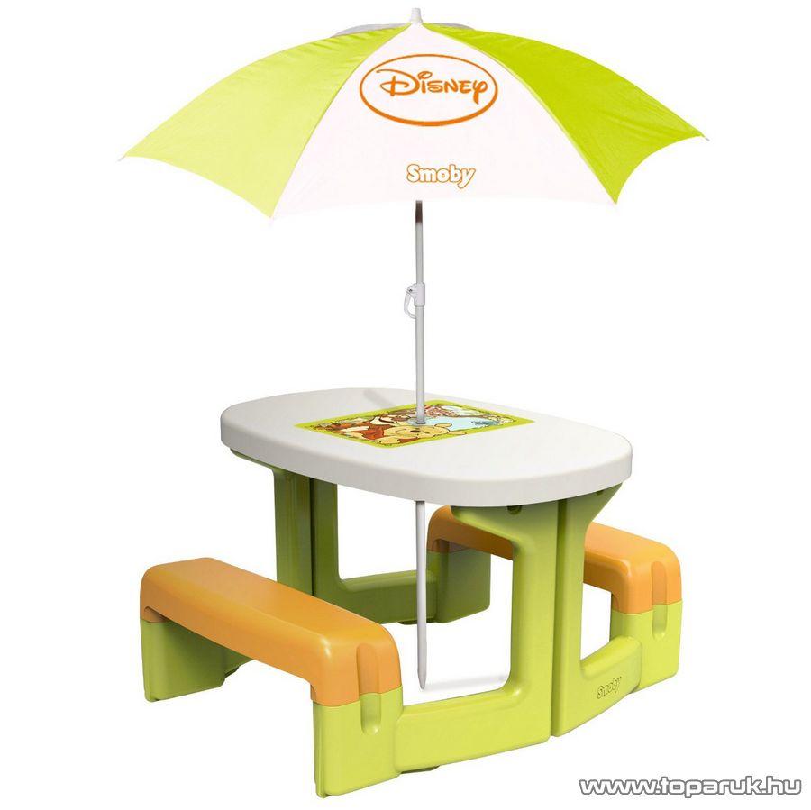 Smoby Micimackós (Micimacis) piknik asztal napernyővel (7600310272) - készlethiány