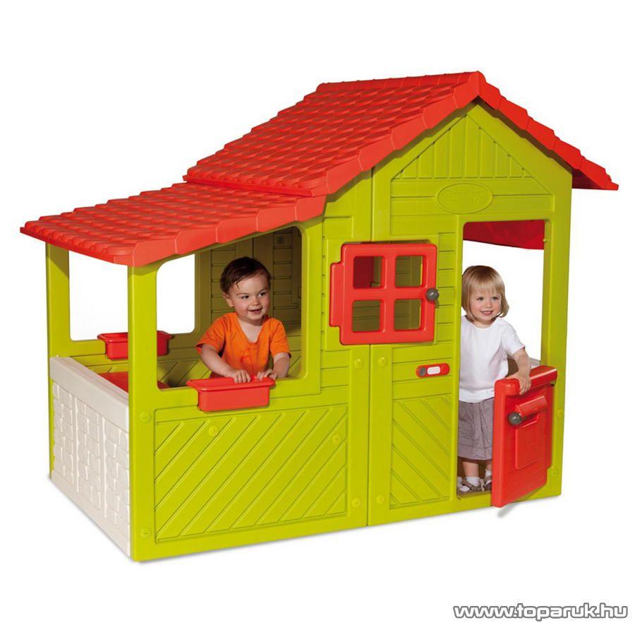 Smoby Nagy Zöld ház, játszóház, álom házikó (Maison Floralie) (7600310247) - Megszűnt termék: 2014. Szeptember