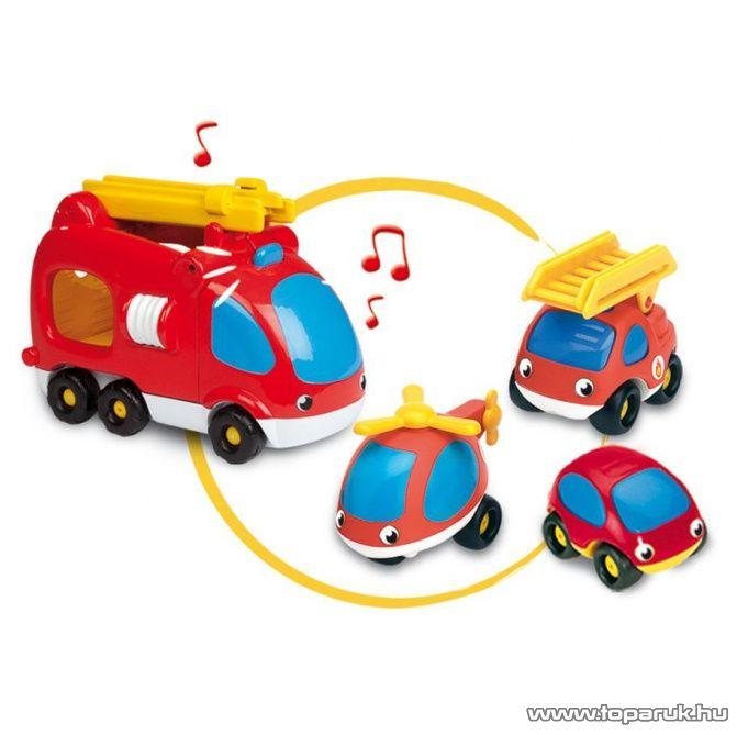 Smoby Vroom Planet VP Tűzoltó járművek, 4-es szett (7600211171) - készlethiány