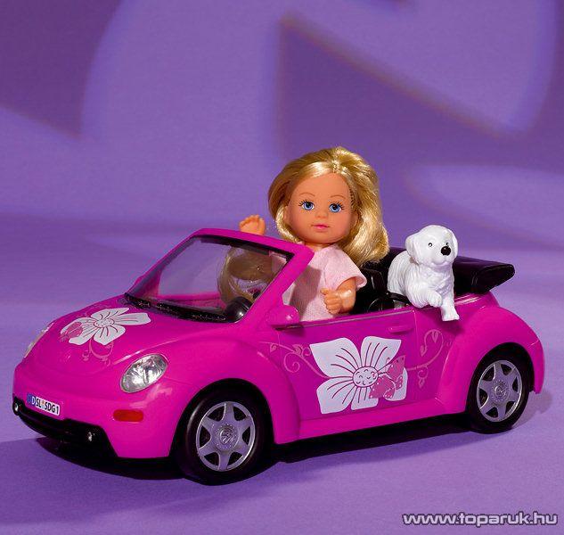 Steffi Love Évi baba Beetle sportautóval és kutyájával (105731539) - Megszűnt termék: 2015. November