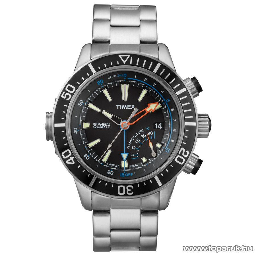 Timex T2N809 Intelligent Quartz férfi karóra mélységmérővel, ajándék kuponnal