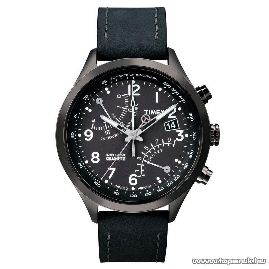 Timex T2N930 Intelligent Quartz Fly-Back Chronograph férfi karóra, ajándék kuponnal