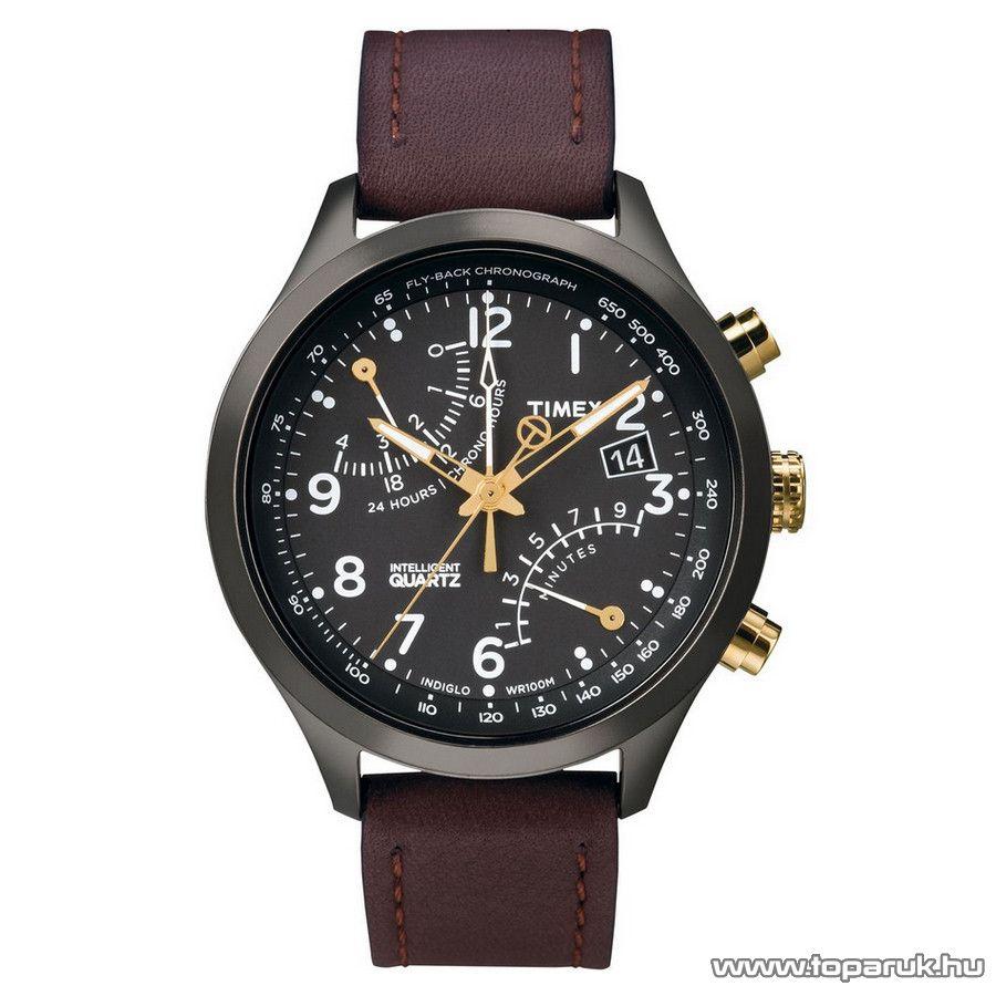 Timex T2N931 Intelligent Quartz Fly-Back Chronograph férfi karóra, ajándék kuponnal