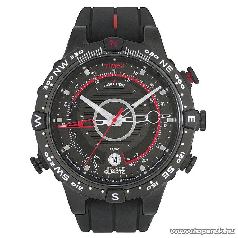 Timex T2N720 Intelligent Quartz Tide Temp Compass férfi karóra, ajándék kuponnal
