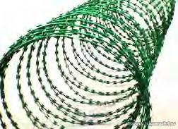 Tüskés huzal PVC bevonatú vashuzalból