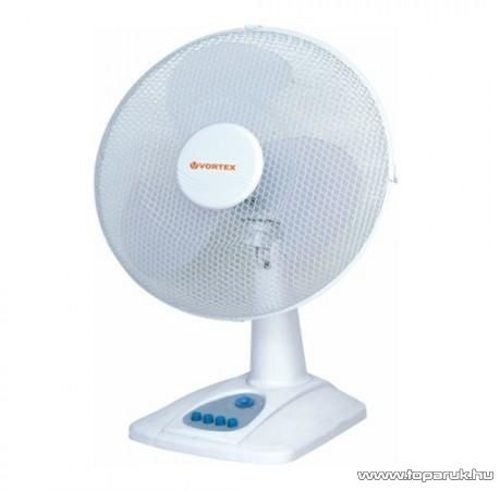 Vortex VDF 30X1T Asztali ventilátor időzítő funkcióval, 30 cm átmérő, fehér - Megszűnt termék: 2015. December
