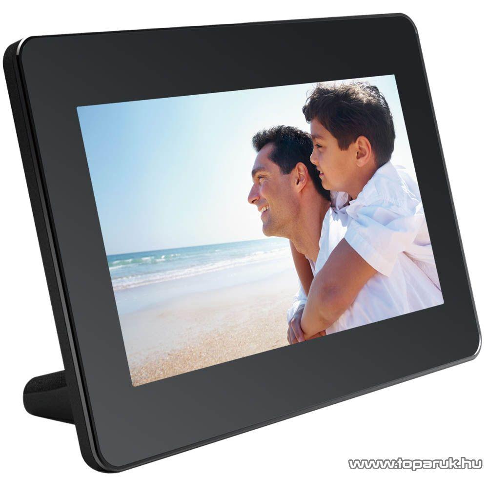 """Agfa AF5079PS Digitális 7"""" távirányítós, asztali képkeret 720x480 (JPEG, USB, SD kártyaolvasó) - megszűnt termék: 2015. december"""