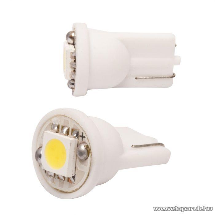 Carguard 1 SMD LED-es T10 izzó rendszám vagy belső tér világítás, fehér, 2 db / csomag (51000)