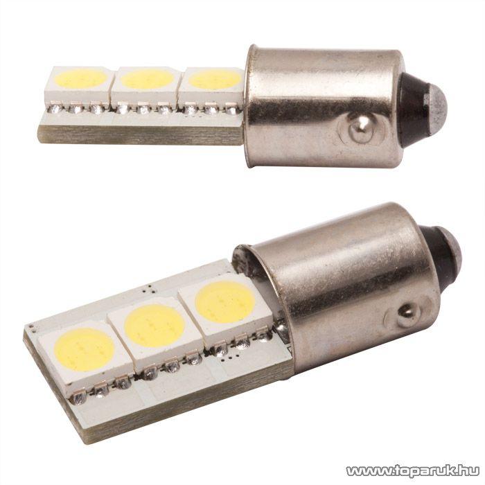 Carguard 3 SMD LED-es BA9s izzó rendszám vagy belső tér világítás, fehér, 2 db / csomag (50996)