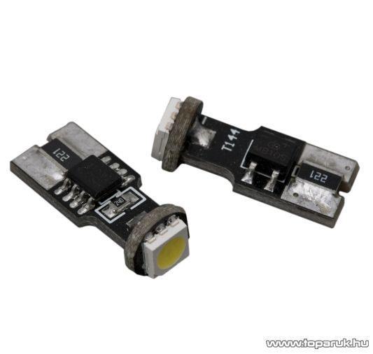 Carguard 1 SMD LED-es izzó helyzetjelző, T10 foglalat, 2W, DC12V, CAN-BUS, 2 db / csomag (51012)