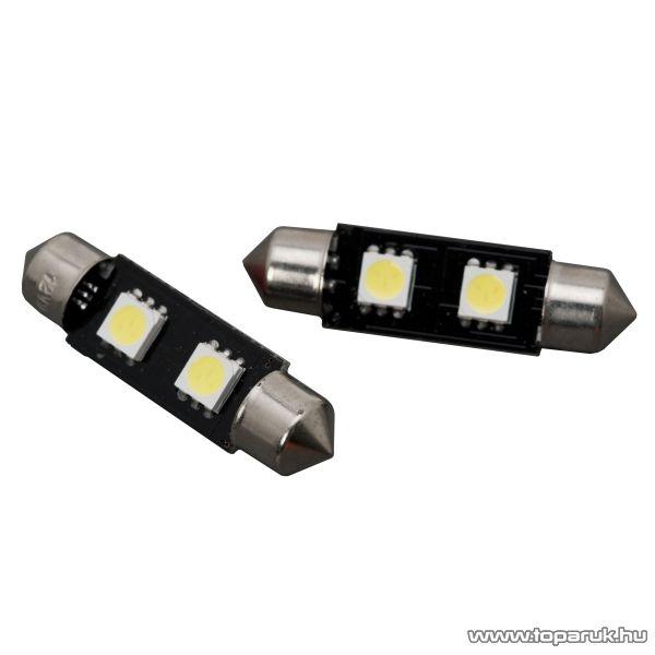 Carguard 2 SMD LED-es izzó rendszám vagy belső tér világítás, Sofita foglalat, 2W, DC12V, CAN-BUS, 2 db / csomag (51015)