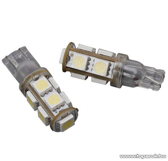 Carguard 9 SMD LED-es izzó helyzetjelző, T10 foglalat, 1,25W, DC12V, 2 db / csomag (51009) - megszűnt termék: 2016. május