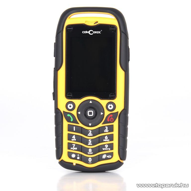ConCorde Raptor P50 Black Yellow két SIM kártyás mobiltelefon, sárga - készlethiány