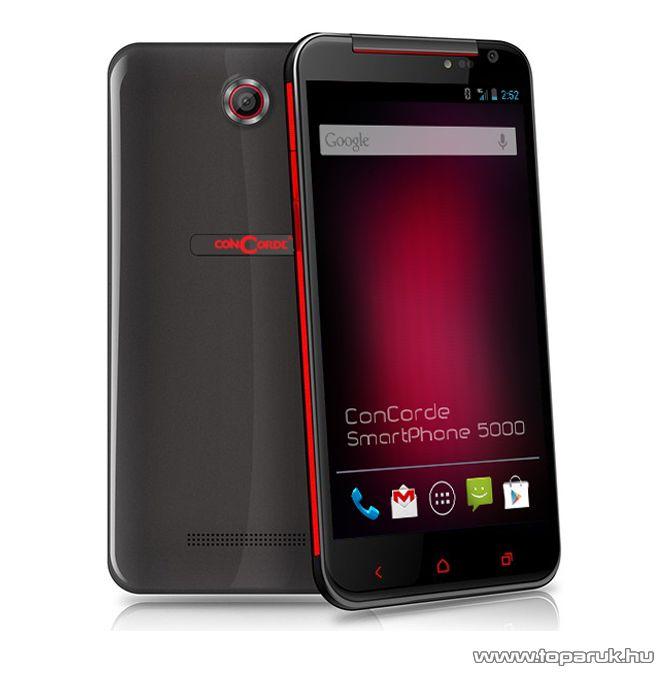 ConCorde SmartPhone 5000 (Dual SIM) 8GB kártyafüggetlen okostelefon Android operációs rendszerrel, fekete - megszűnt termék: 2014. július