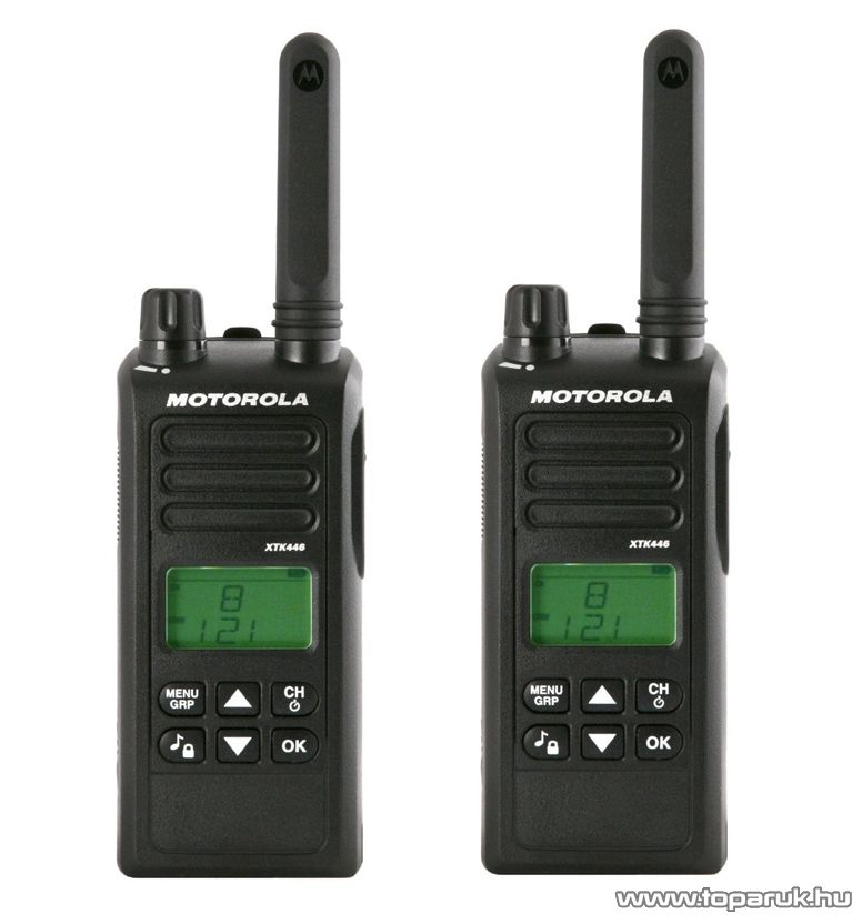 Motorola XTK446 adó-vevő készülék, 8 km walky talky, 1 pár
