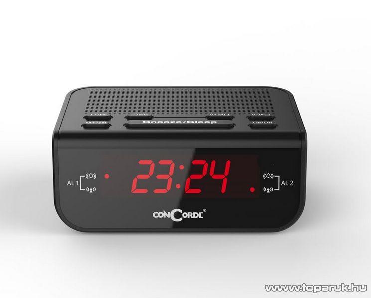 ConCorde CR 60 asztali ébresztőórás rádiós, piros színű LED kijelzővel - megszűnt termék: 2016. január