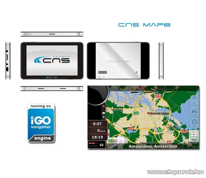 CNS Globe AMBER PNA készülék CNS MAP8 EU navigációs szoftverrel - megszűnt termék: 2016. február