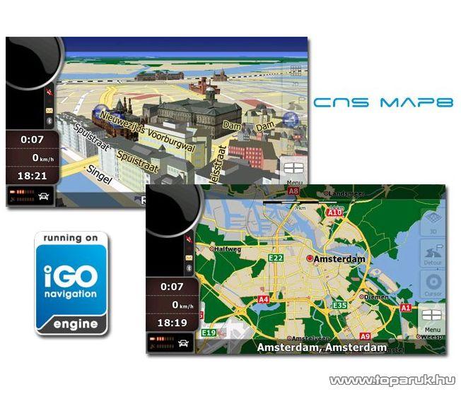 CNS Map8 EU szoftver update (frissítés) + 4 GB memória kártya - készlethiány