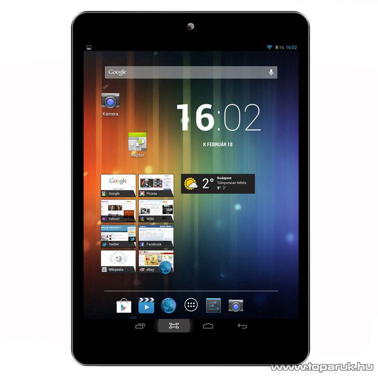 "ConCorde tab VIVO Black 8GB tablet, 7,85""-os LCD kijelző, Android operációs rendszer, fekete"