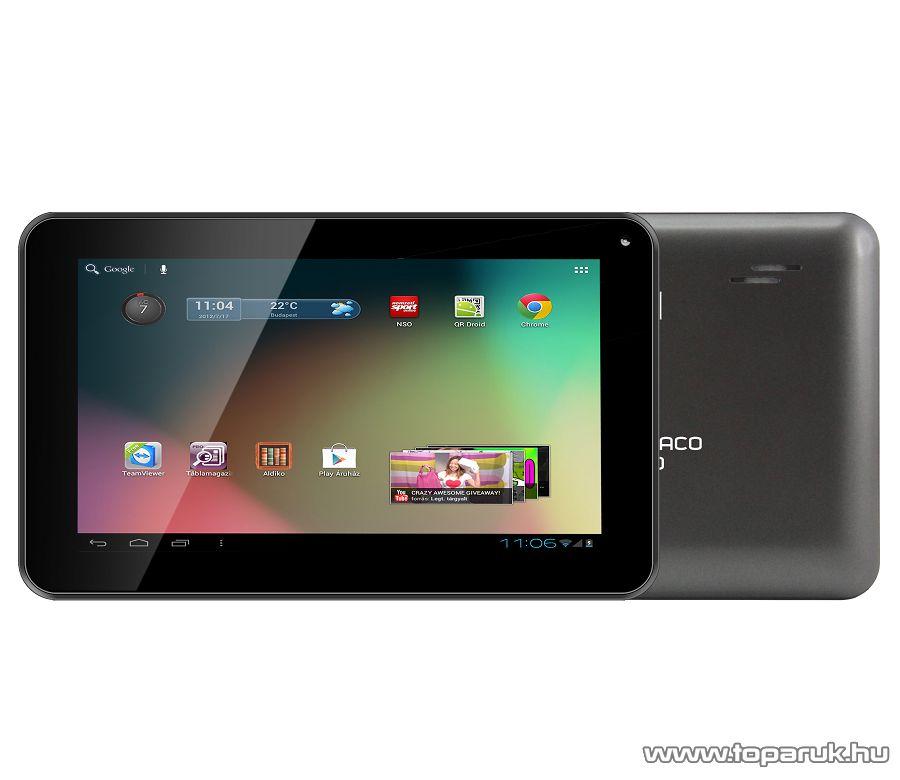 "ConCorde tab DRACO GRAY 8GB tablet, 7""-os LCD kijelző, Android operációs rendszer, szürke"