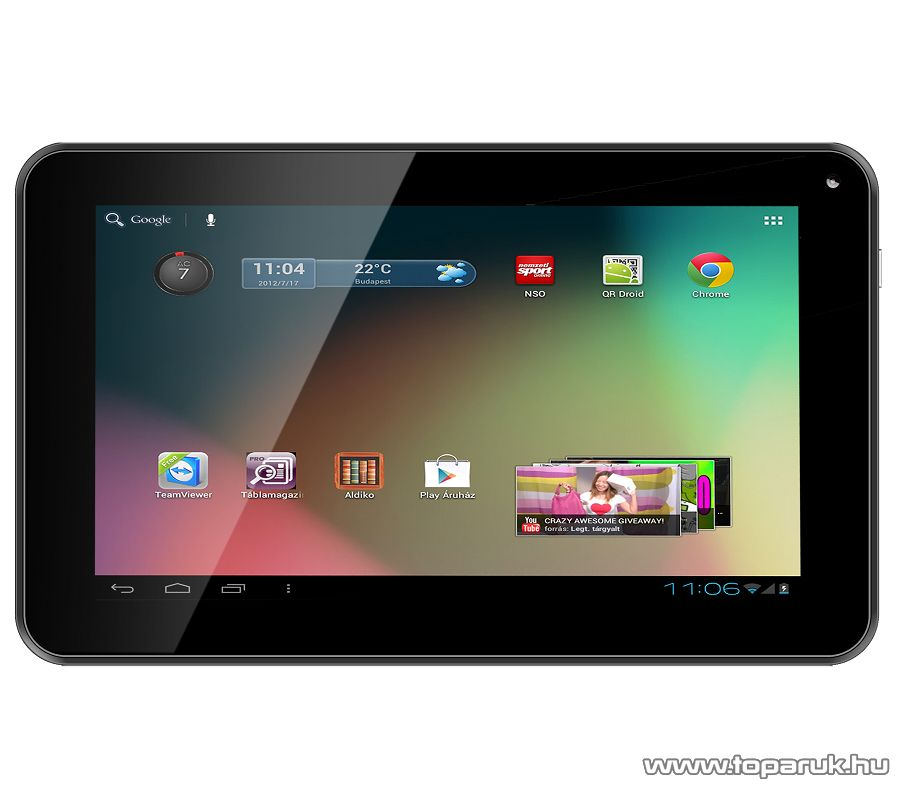"""ConCorde tab DRACO BLUE 8GB tablet, 7""""-os LCD kijelző, Android operációs rendszer, kék"""