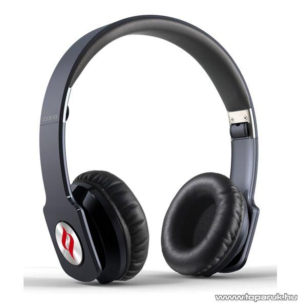 Noontec Zoro összehajtható fejhallgató, fekete