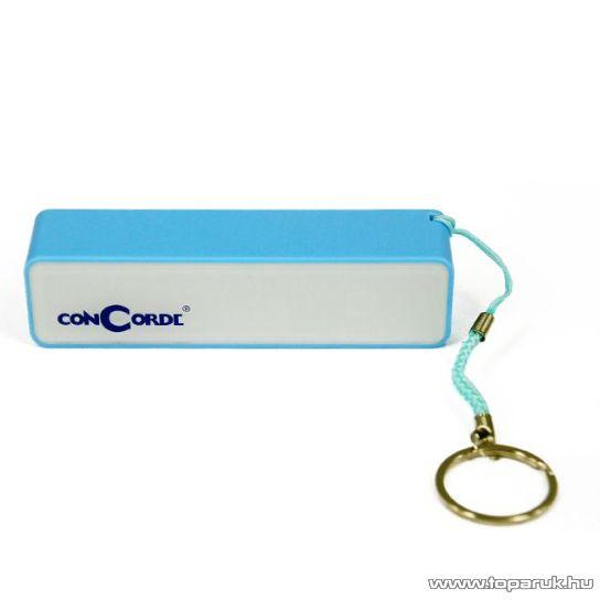 ConCorde Power Bank univerzális külső akkumulátor, kék, 2600 mAh - megszűnt termék: 2016. február