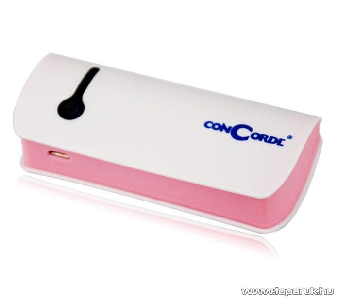 ConCorde Power Bank univerzális külső akkumulátor, fehér, 5200 mAh - megszűnt termék: 2015. június