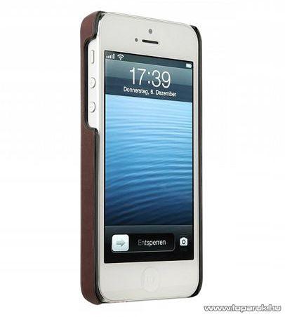bugatti CPL-AP 08174 álló Apple iPhone 5 mobiltelefon tok, barna - megszűnt termék: 2015. szeptember
